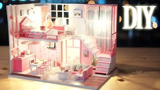 DIY Miniature Dollhouse Kit || Love Pink - Miniature Land