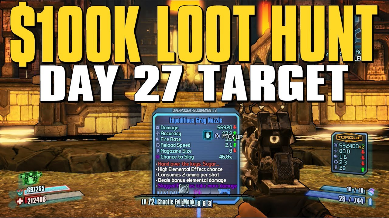 borderlands 2 deals with gold