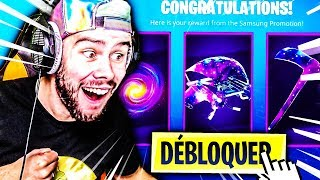 I'm DEBLOQUEING THE ACCESSOIRES OF MY SKIN GALAXY ON FORTNITE !!!