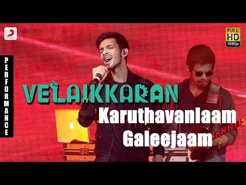 Velaikkaran Audio Launch - Anirudh Karuthavanlaam Galeejaam Performance