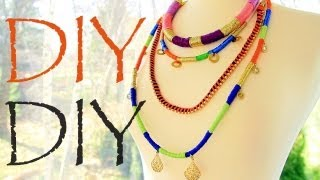 DIY Tribal Colorblock Rope Necklaces - Ethnic Proenza Schouler Fashion