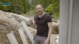Björn bygger bo – Gjuten fönsterbänk i betong