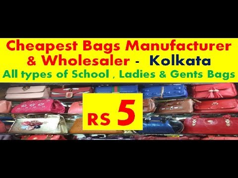 Cheapest Bags Wholesaler- Kolkata (ladies and gents wallets, skybags,office, laptop School bags,ect)