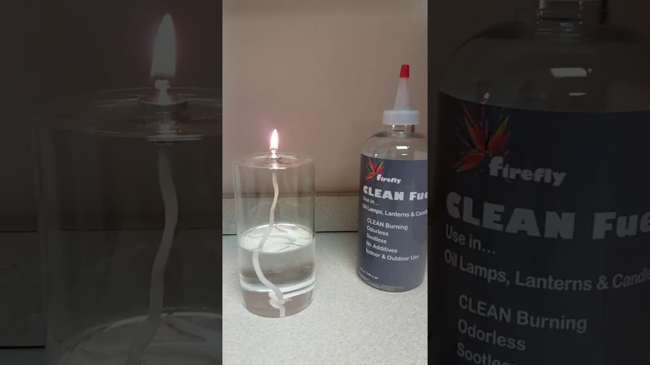 4-ounce Firefly Pillar Candle Burning Firefly CLEAN Lamp Oil - YouTube