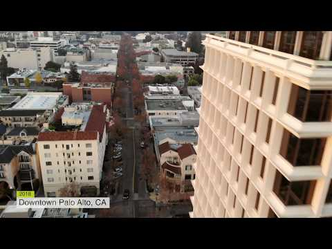 Downtown Palo Alto by Drone