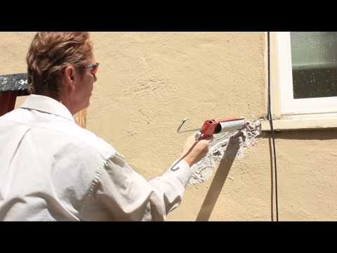 Fix a large structural crack with polyurethane caulking