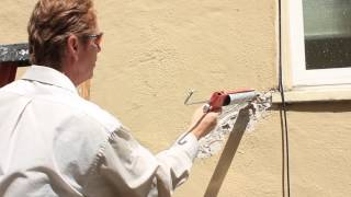 How to fix a large structural crack with polyurethane caulking