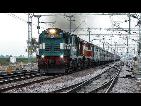 Double Headed Chugging Diesel Engines | ALCo's | Indian Railways