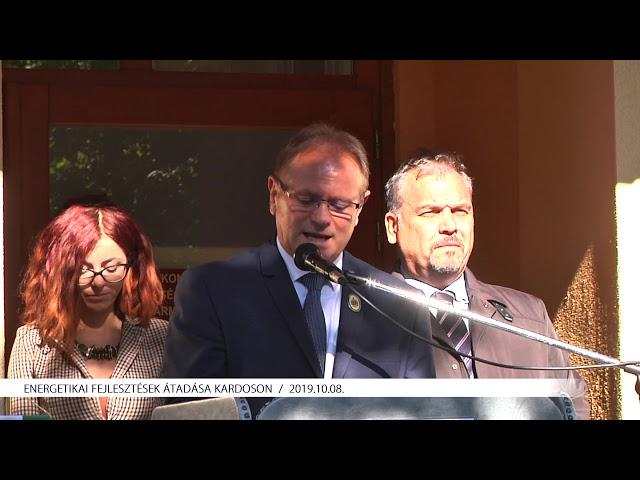 Energetikai fejlesztések átadása Kardoson (2019.10.08)
