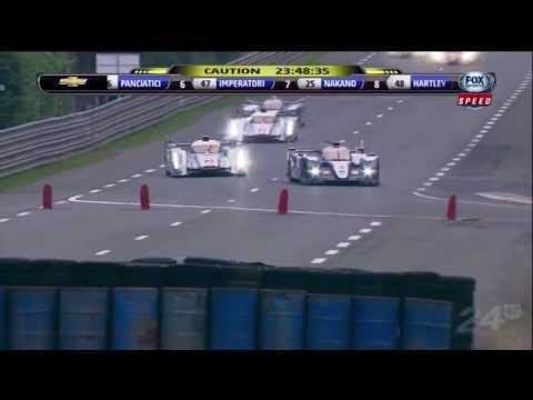 2013 24 Hours Of Le Mans Start - Audi vs Toyota + Allan Simonsen Crash