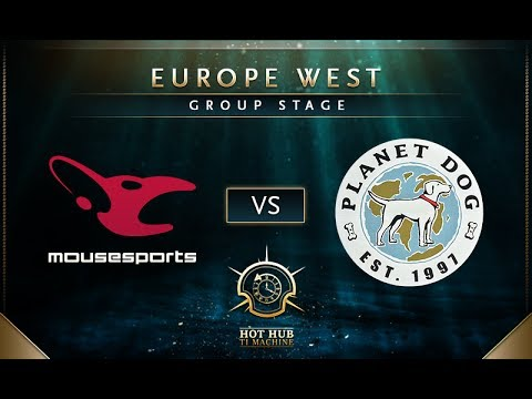 mouz vs Planet Dog - TI7: EU Regional Qualifiers Group Stage - @LD @tsunami