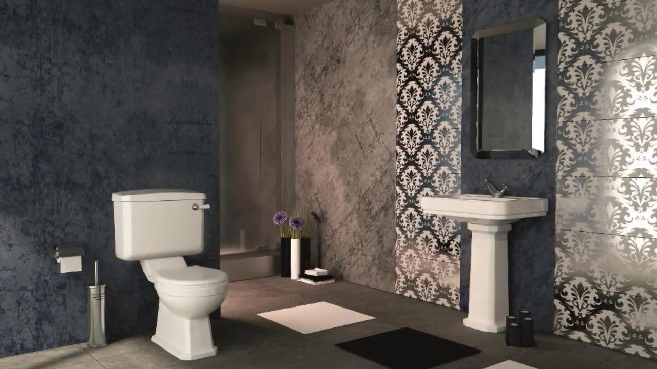 Art Deco Bathroom Tile Design UK - YouTube