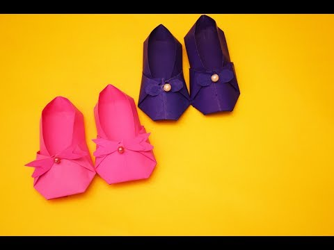 DIY PAPER SLIPPERS USING ORIGAMI | DIY PAPER CRAFTS | CRAFT SIDE