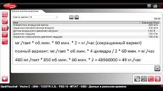 Обзор параметров Опель Вектра C 2.2 DTI