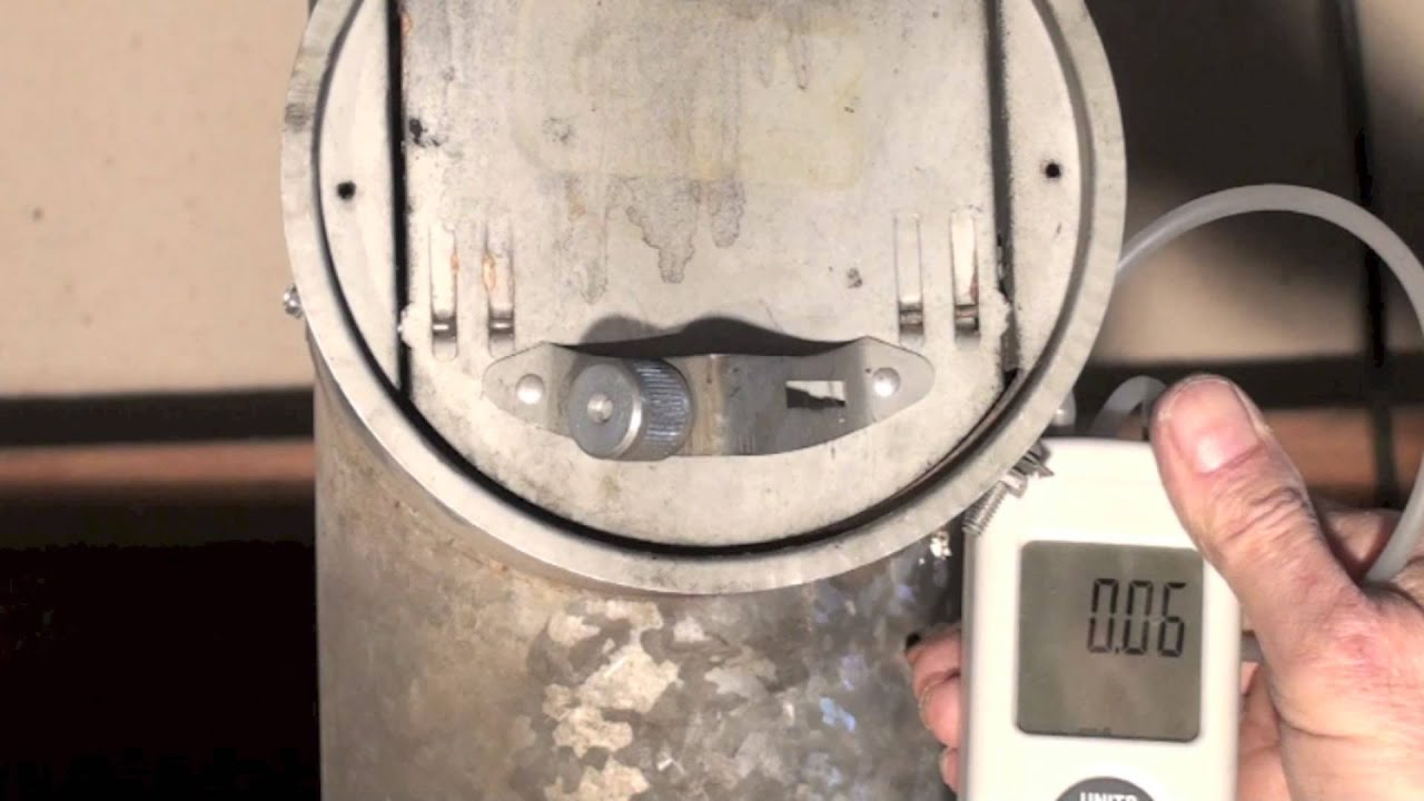 How to set the oil furnace barometric damper