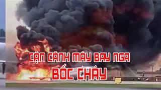 Cận cảnh máy bay Nga bốc cháy
