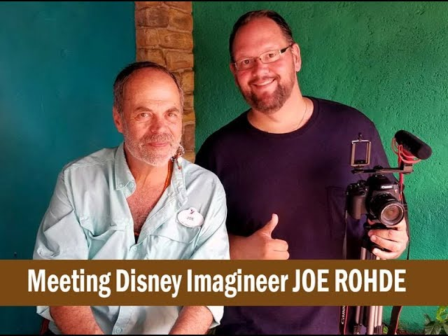 Meeting Imagineer Joe Rohde at Disney's Animal Kingdom 20th Anniversary Celebration