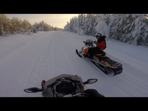 Levi Snowmobile Ride With Stabilizer 2018