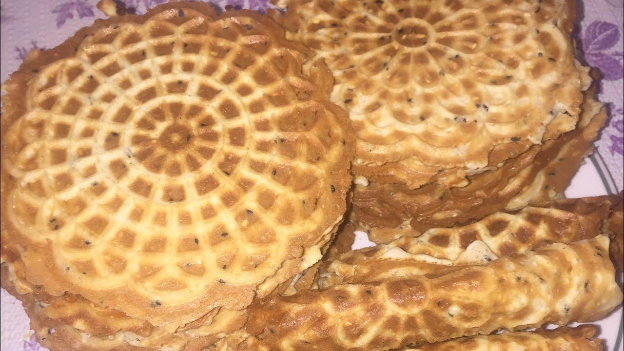 Công thức chuẩn để làm bánh kẹp cuốn giòn kiểu Việt Nam . How to make pizzelles
