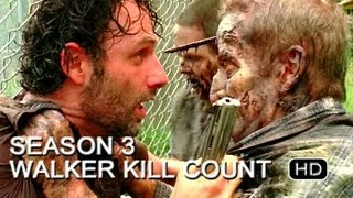 The Walking Dead | Season 3 | Walker Kill Count (HD)