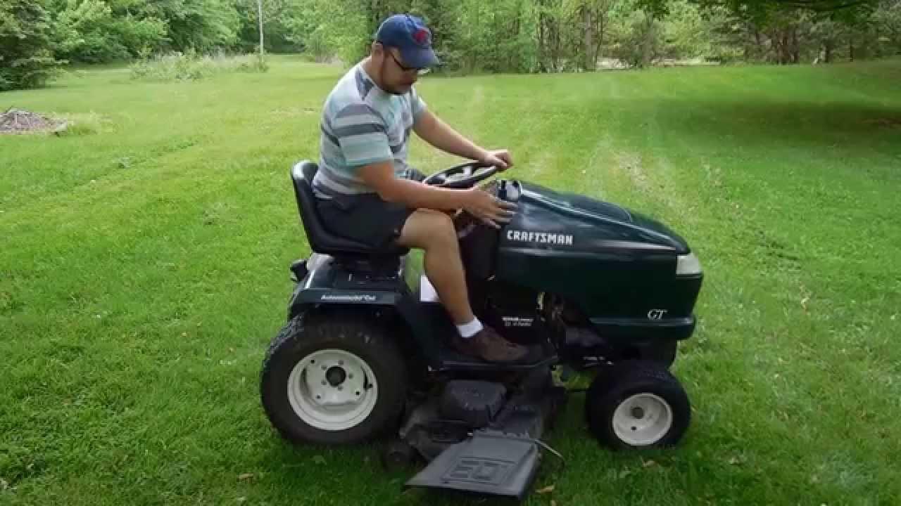 hight resolution of craftsman gt mower