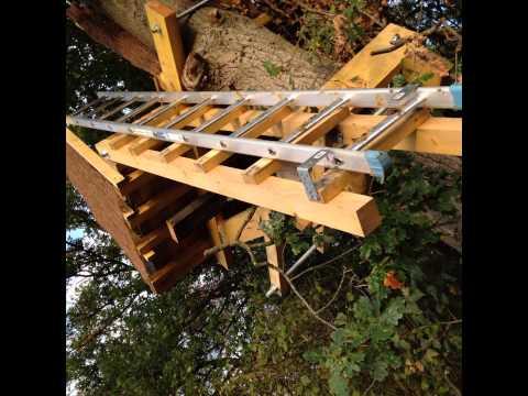 construction d un poste fixe a pigeon dans un arbre acte3 youtube. Black Bedroom Furniture Sets. Home Design Ideas