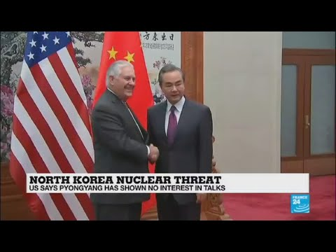"Rex Tillerson in China over North Korea - ""There is no official direct dialogue going on"""