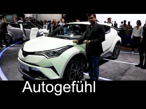 Toyota C-HR crossover hybrid first Exterior/Interior review Paris Motor Show