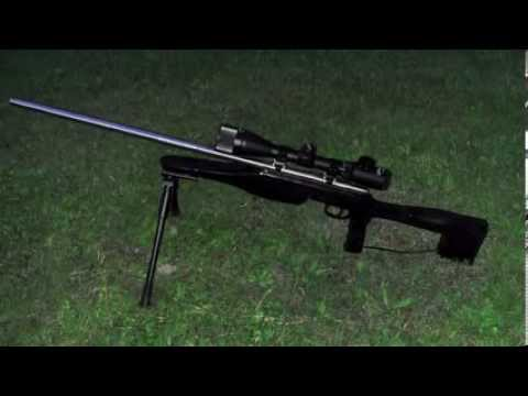 Savage 93R17 Custom Tactical Style Sniper Rifle - YouTube