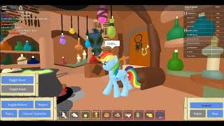 EXPLORING EVER FREE FOREST! Rainbow dash plays roblox