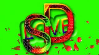 S Love D Letter Green Screen For WhatsApp Status | S & D Love,Effects chroma key Animated Video