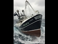 Fishing vessel Lapwing PD972 in a poor day on the North Sea