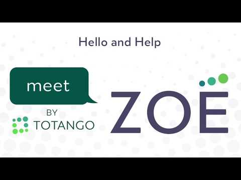 Zoe Interaction Tutorials: Say Hello and Help to Get Started