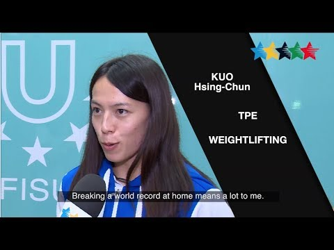 Weightlifter Kuo Hsing - Chun breaks the world record - again!- 29th Summer Universiade 2017, Taipei
