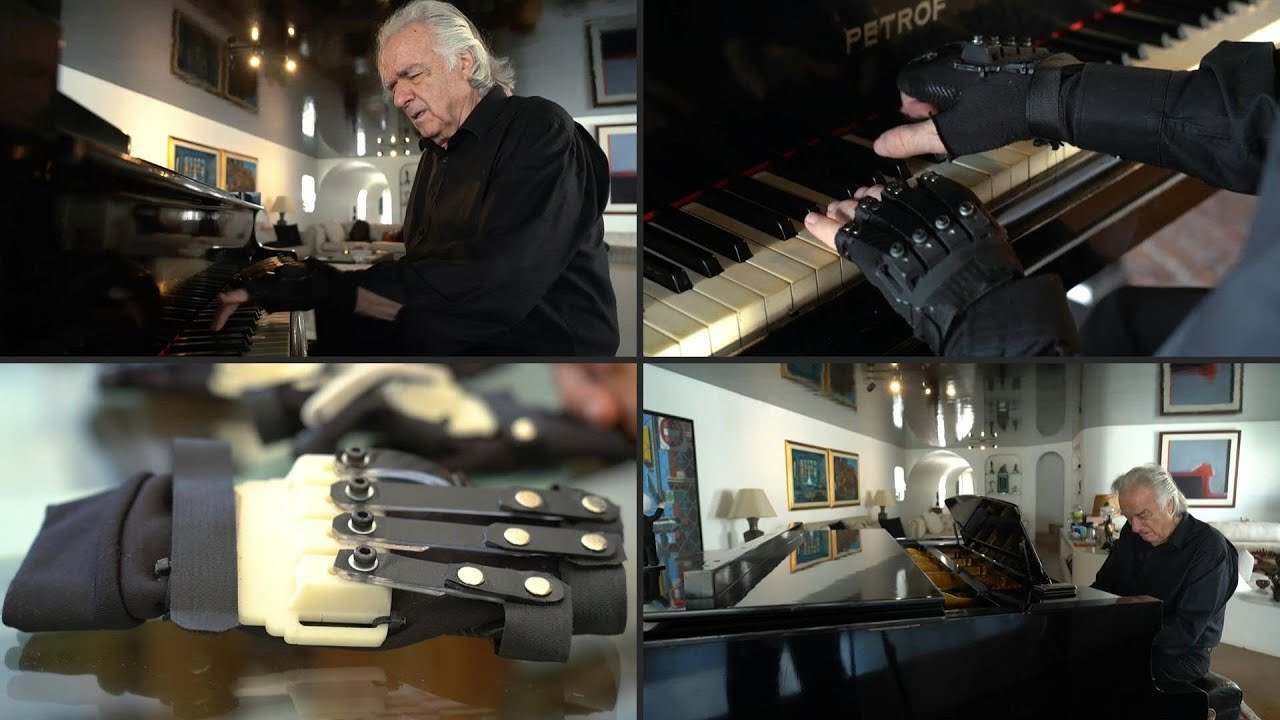 Special gloves help Brazilian musician return piano playing  AFP