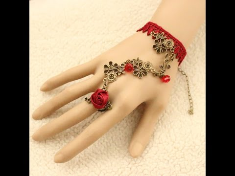 Fancy Bracelets Attached Ring For Beautiful Jewellery