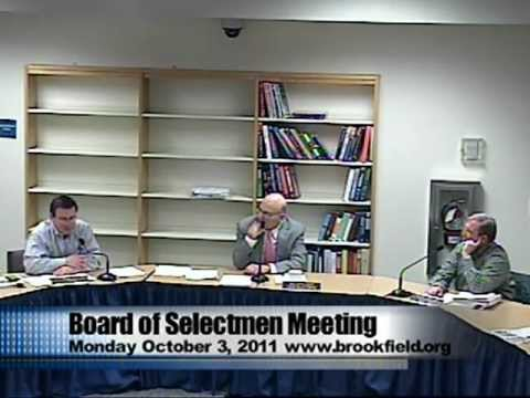 Brookfield BOS Meeting - 10/3/2011