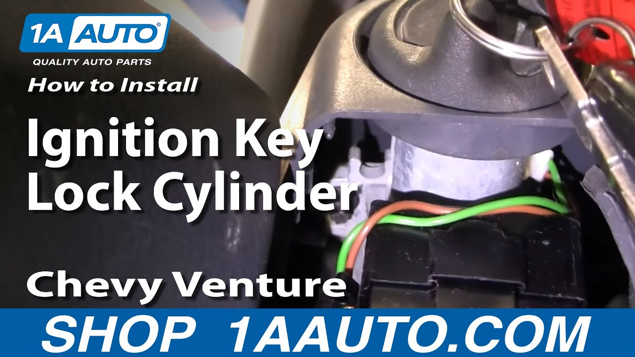How To Install Replace Ignition Key Lock Cylinder Chevy Venture Starting Wiring Diagram 98 Cavalier Trans Sport 97 1aautocom Youtube