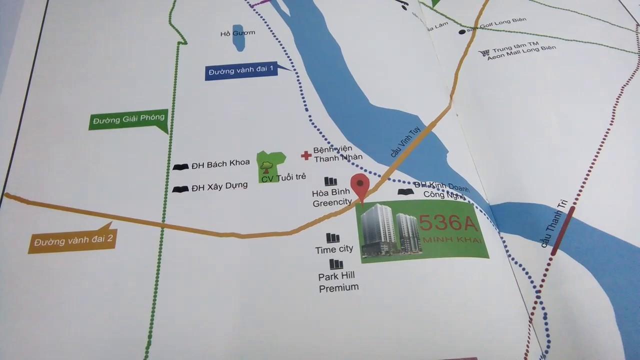Bán căn hộ chung cư DA 536A Minh Khai. Tầng 17/21 giá 25tr/m2