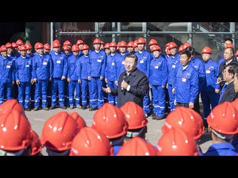 Chinese President Xi Jinping visits China First Heavy Industries