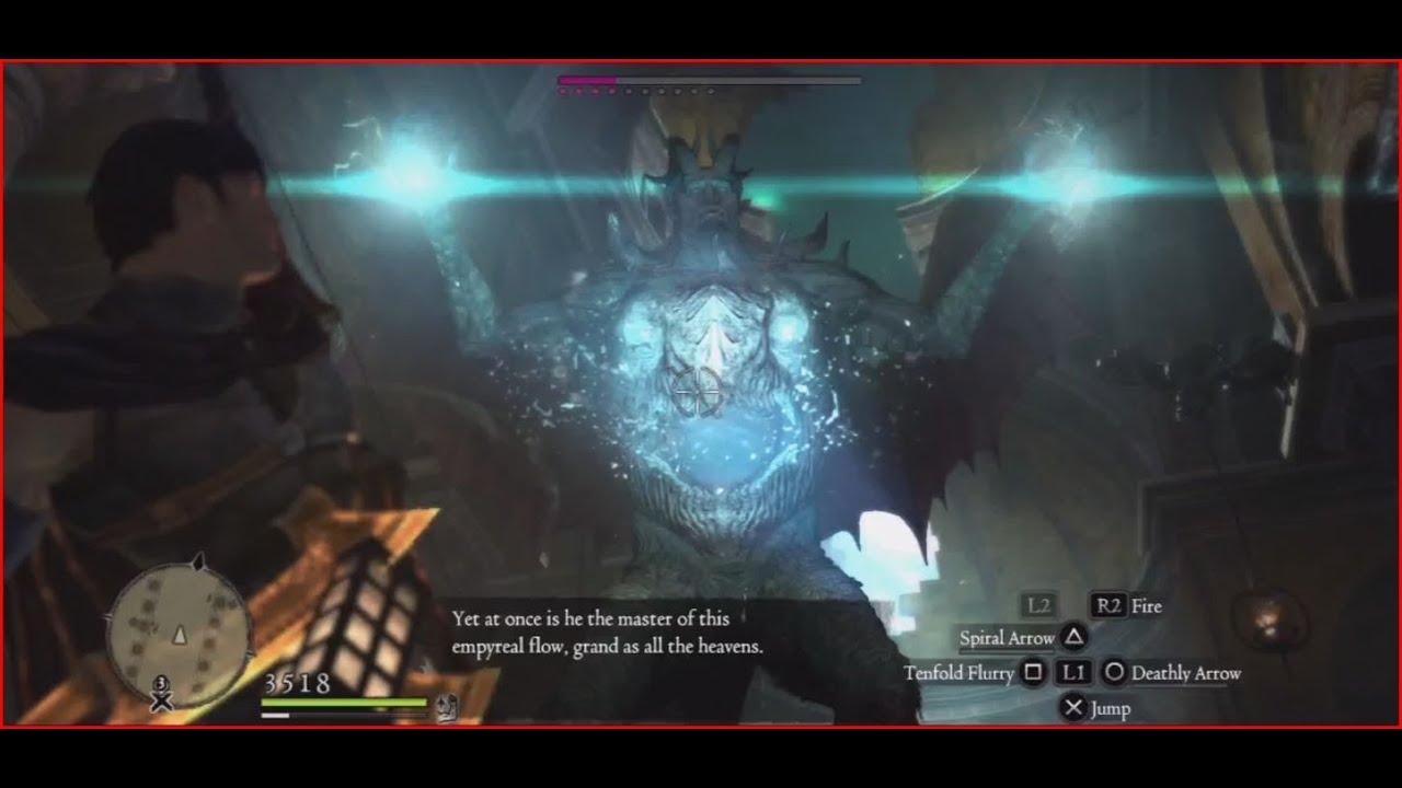 Dragon's Dogma Dark Arisen (Hardmode) - Daimon 2nd form in 40 secs ...