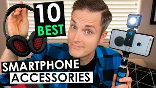 Mobile Phone Accessories — 10 Best Smartphone Accessories(Check out the top 10 must have mobile phone accessories on Amazon here: **** Download the FREE Smartphone Gear Guide here: ..., 2016-11-23T15:59:57.000Z)