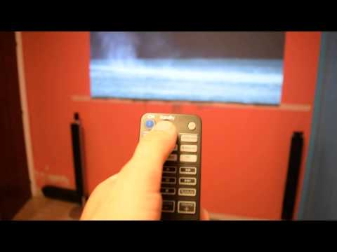 Diy projects screen Gray Paint Home theater (Small Screen 90 inches )