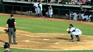 Austin Romine Throwing Down to 2nd - Slow Motion