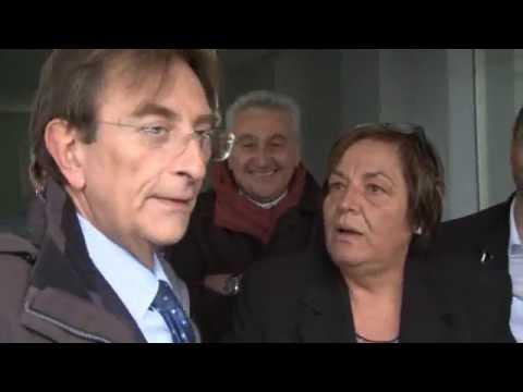 Consegna Chiavi con il Sindaco Cialente cantieri Via Francia AQ - Servizio L'Aquila TV