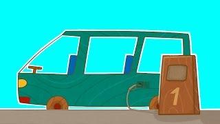МАШИНКИ - На заправке - Мультик для мальчиков про транспорт