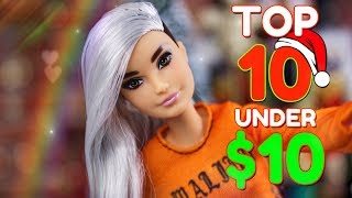 TOP 10 Christmas Gifts under $10 | RANKED | Barbie | LOL Surprise | Fresh Dolls  & more