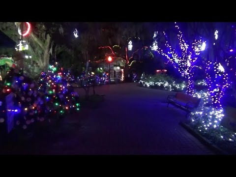 Christmas Lights New Orleans City Park 2016