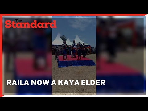 Raila Odinga installed as a Kaya elder in Duruma land