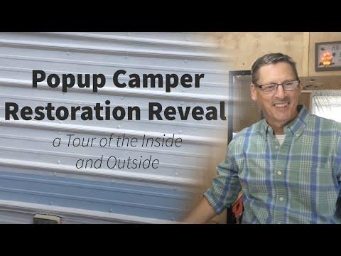 Pop Up Camper Restoration Reveal (Inside and Out)
